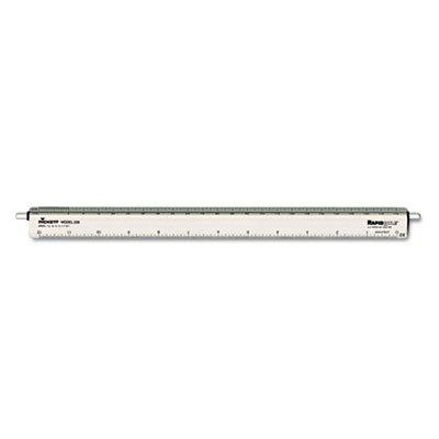 CHA238 - Chartpak Adjustable Triangular Scale Aluminum Architects Ruler by Chartpak