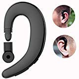 (Bluetooth Headset, V4.2 Mono Wireless Headphone with Microphone Handsfree Calling HiFi Stereo Earpiece Earhook Sweatproof Earbud (10 Hours Music Time, Painless) Compatible with iPhone 6/7/8/X)