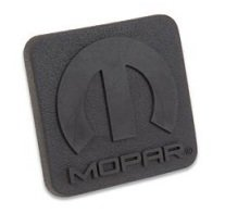 Mopar Receiver Plug - CHRYSLER JEEP DODGE TRAILER TOWING RECEIVER HITCH PLUG RUBBER MOPAR LOGO 1 1/4