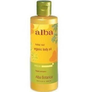 Alba Botanica Kukui Nut Organic Body Massage Oil, 8.5 Ounce - 6 per case.