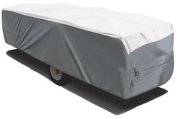 """ADCO 22853 DuPont Tyvek Cover for Hi-Lo RV Trailer, Fits 22'7"""" - 26' Trailers, Gray"""