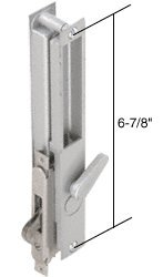 Aluminum Non-Keyed Sliding Glass Door Handle; 6-7/8'' Screw Holes for Daryl Doors by C.R. Laurence (Image #1)