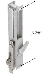 Aluminum Non-Keyed Sliding Glass Door Handle; 6-7/8'' Screw Holes for Daryl Doors
