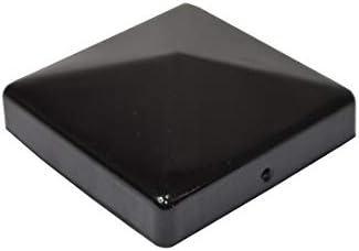 Pfostenkappe schwarz f/ür Pfosten 7x7 cm