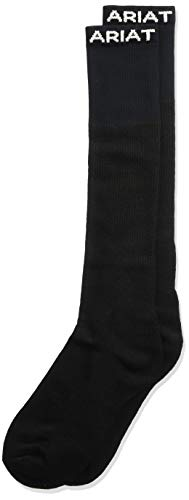 Ariat Men's Over the Calf Single Sock, Black, X-Large