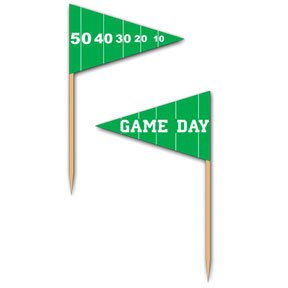 : Beistle 60106 50-Pack Game Day Football Picks for Parties, 2-1/2-Inch