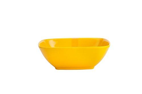 ARO Melamine Square Bowl 6 #34;, Set of 3    Yellow