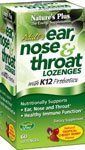 Natures Plus Adults Ear, Nose & Throat Lozenges with K12 Probiotics - 60 Tropical Cherry Berry Flavor Lozenges - Immune System Booster, Promotes Clean Breath - Gluten Free - 30 Servings