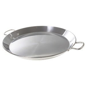 Garcima 14-inch Stainless Flat Bottom Paella Pan, 36cm