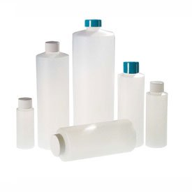 (Qorpak PLC-03428 16oz Natural HDPE Cylinder Bottle with 24-410 White PP Cap, Case of 24)