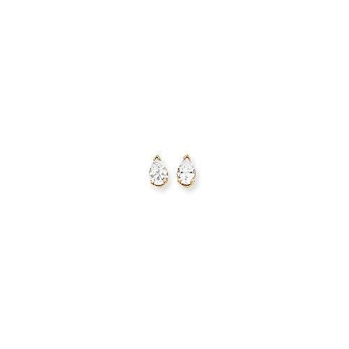 14k 7x5 Pear Earring Mountings