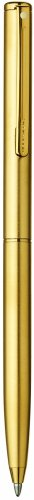 Sheaffer Agio Ball Pen, Angle Brushed 22K Gold Plate Finish with 22K Gold Plate Trim (SH/459-2)