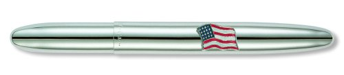 - Fisher Space Pen, Bullet Space Pen with American Flag Emblem, Chrome (600AF)