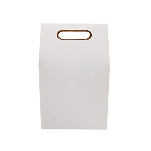 30 Pcs/Lot Kraft Paper Bag Blank Birthday Gift Boxes Brown & White For Shops Candy Cake Dessert Wedding Party Supplies,White
