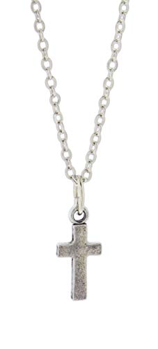 Bob Siemon Pewter Cross Necklace on 18