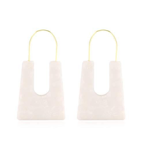 - Acrylic Earrings Statement Turquoise Earrings Resin Drop Dangle Earrings Fashion Jewelry For Women ...