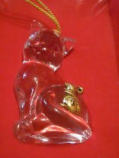 CATS BEST FRIEND FULL LEAD CRYSTAL & ANTIQUE GOLD
