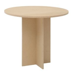 30'' x 35 3/4'' (H x Dia) Maple Round Display Table by Retail Resource