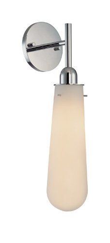 Sonneman One Light Wall Sconce 4841-01W Teardrop Collection (Sconce Silver Sonneman)