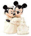 Disney figures Lennox Mickey Minnie Minnie's Dream Wedding Cake Lenox Disney 790432