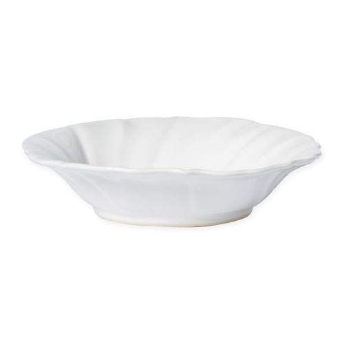 - Vietri Incanto Stone White Ruffle Pasta Bowl