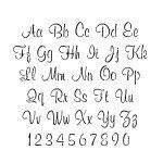 Script Alphabet Stencil - 4 inch - 10 mil medium-duty