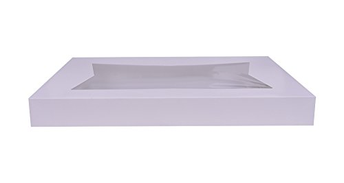 Southern Champion Tray 24253 Paperboard White Window Bakery Box Top (Bottom Sold Separately), 26-1/2