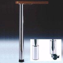 (Zoom Table Leg Brushed Steel 34-1/4