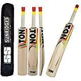 TON Tennis Tape Ball Cricket Bat by SS Sunridges With Free SS Bat Cover - Latest 2016-2017 Bat (Short Handle)