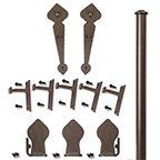 Rolling Door Hardware Kits, Complete Spade w/ Long Brackets