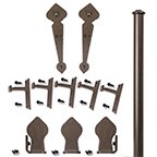 Rolling Door Hardware Kits, Complete Spade w/ Long Brackets by handyct