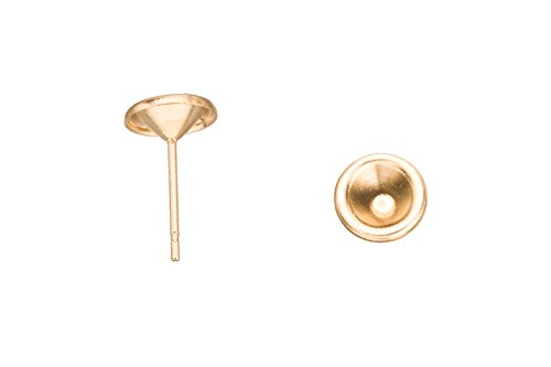 Cup Earstud, For Ss21 Zc And Rhinestones Fit On, 16K Gold-Finished Gold-Finished 14.4mm sold per pack of 20 (2pack bundle), SAVE $1