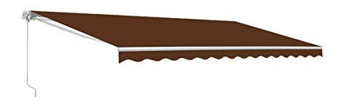 ALEKO AW12X10BROWN36 12 X 10 Feet Retractable Home Patio Canopy Awning, Brown Color by ALEKO