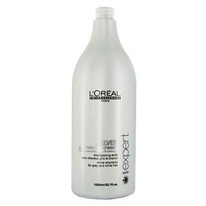 Loreal silver shampoo for blonde gray hair salon size for Loreal salon price list