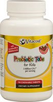 Vitacost Probiotic Tabs for Kids Strawberry -- 3 billion CFU** - 90 Chewable Tablets - 90 Chewable Tabs