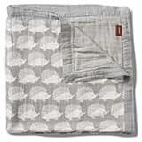 Milkbarn Bamboo Cotton Big Lovey Baby Blanket - Grey Hedgehog