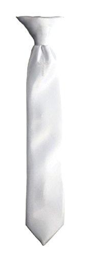 Boys Communion Neck Tie White Embroidered Religious Cross