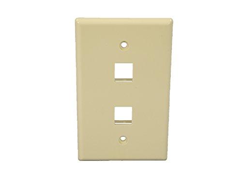 Cooper Wiring Devices 5520A-MSP 2 Port Flush Modular Wallplate, Almond