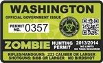 Yellow Dog Washington WA Zombie Hunting Permit - Hunter Response Biohazard Team Unit - 4