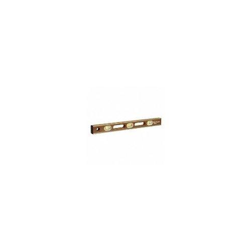 Kraft Tool SL12AB24 Sands Professional Brass Bound Mahogany Level, 6 Vials, 24-Inch