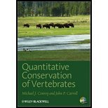 Quantitative Conservation of Vertebrate (09) by Conroy, Michael J - Carroll, John P [Paperback (2009)]
