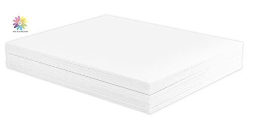 Mat Board Center, Pack of 10 8x10 1/8' White Foam Core Backing Boards