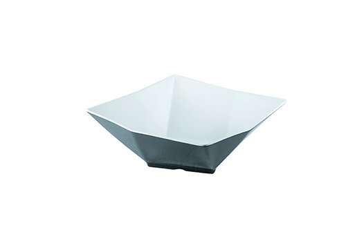 13 In Square Bowl (TableCraft Products MB134BKW Angled Square Bowl, Large, 13