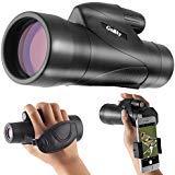 Gosky 12x50 ED Glass Monocular- Ultra HD Multi-Coated Waterproof Monocular Telescope-BAK4 Prism for Wildlife Bird Watching Hunting Camping Travelling Wildlife Secenery ()