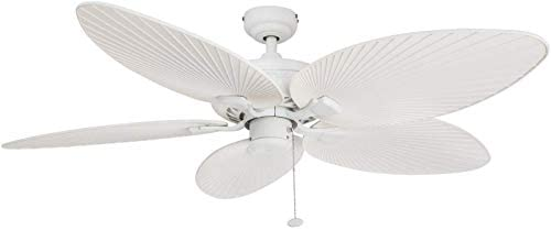 Honeywell Ceiling Fans 50200 Palm Island Tropical Indoor Outdoor Ceiling Fan, 52 , White