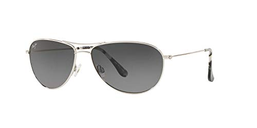 Maui Jim Sea House GS772-17 | Polarized Aviator Frame Sunglasses, Silver-Nuetral Grey, with Patented PolarizedPlus2 Lens ()