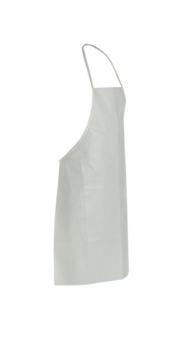 - DuPont ProShield 60 NG273B Disposable Bib Apron with Neck Loop and Waist Ties, White, Universal Size (Pack of 100)