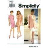 Simplicity Pattern #7661 SIZE: 6-12 ***MISSES'/MISS PETITE DRESS & UNLINED JACKET *** ()