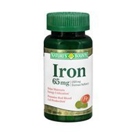 Nature' Bounty Iron 65 mg - 100 Tablets (Pack of 3) by Nature's ()