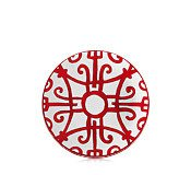 Hermes Balcons du Guadalquivir Red Bread & Butter Plate No. 4